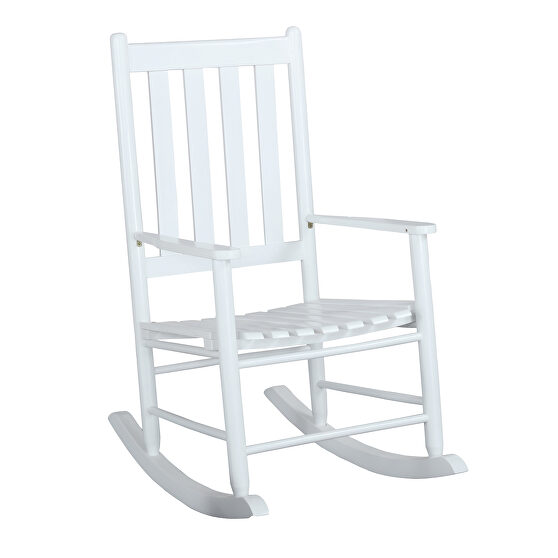 White finish rocking chair
