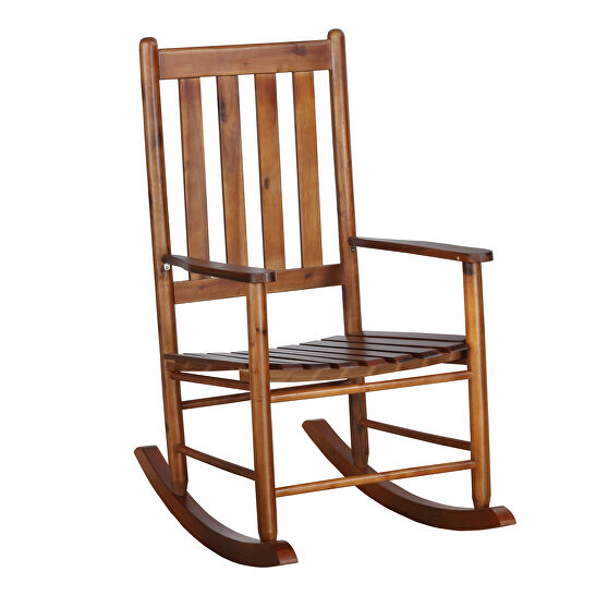 Classic rocking chair finished in golden brown