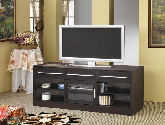 Dark Brown Oak TV Console