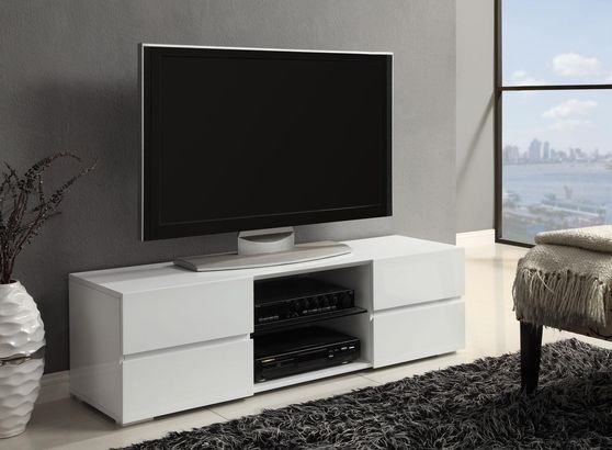 High Gloss White TV Stand