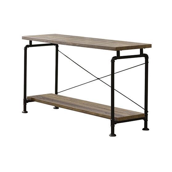 Wood and metal sofa table
