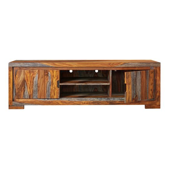 Tv console in natural sheesham wood
