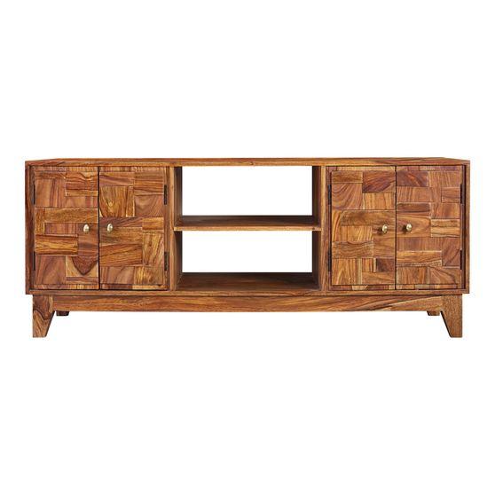 Natural sheesam wood tv console