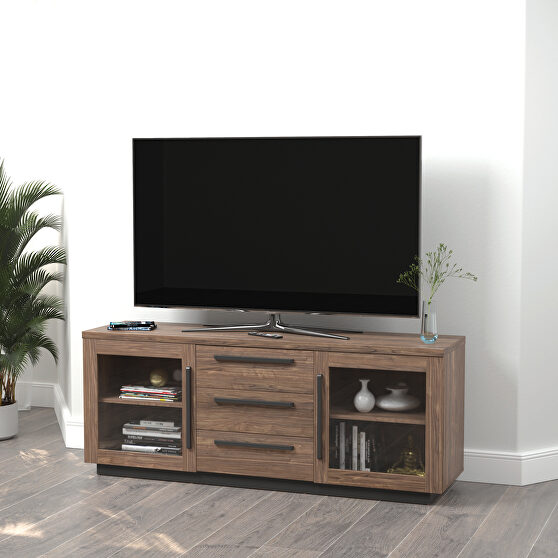 Finished in aged walnut 59 TV console