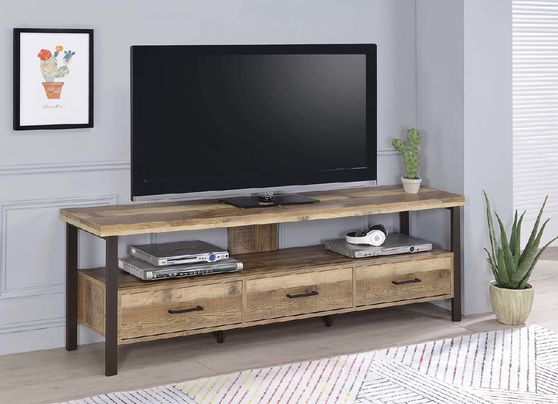 Rustic weathered pine 71=inch tv console