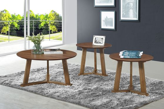 3pcs occasional set in natural walnut