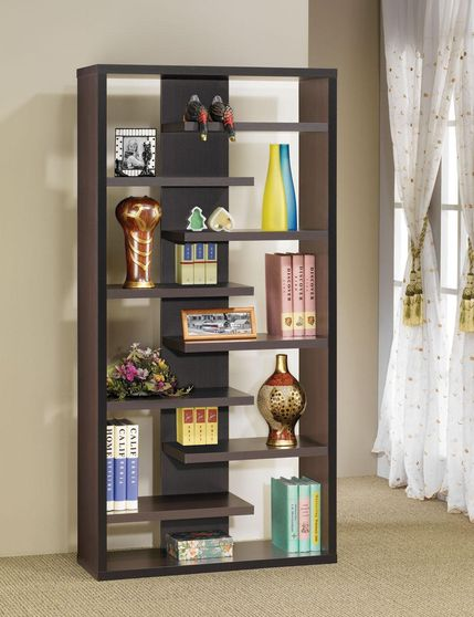 Contemporary dark brown display cabinet