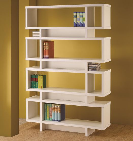 Modern display unit in white