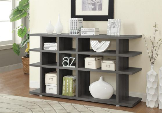 Weathered gray display, ideal for office