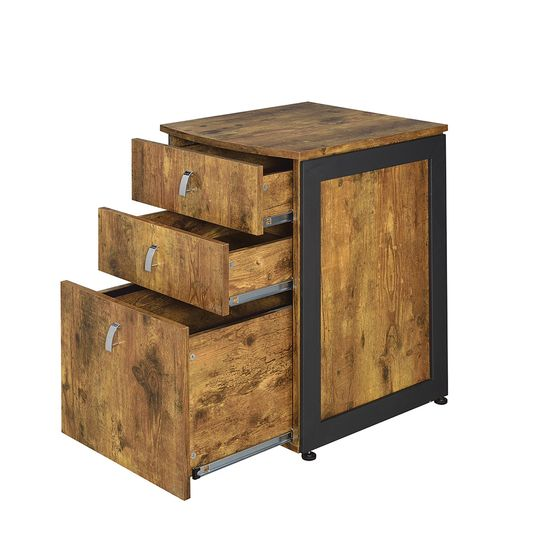 Industrial antique nutmeg file cabinet