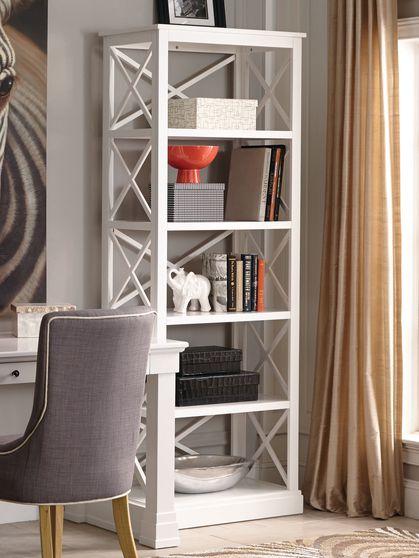 Antique white bookcase