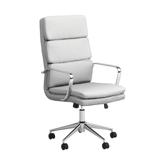 Office chair in white / chrome