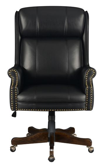 Executive style black leatherette office chair