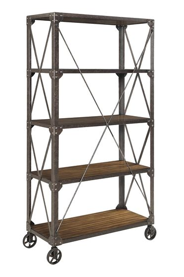 Bookcase in industrial style