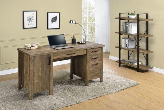 Office desk in rustic oak