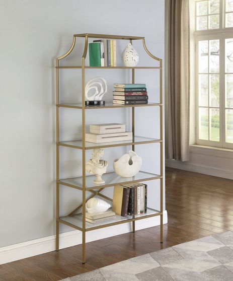 Bookcase in art deco style / glass / gold