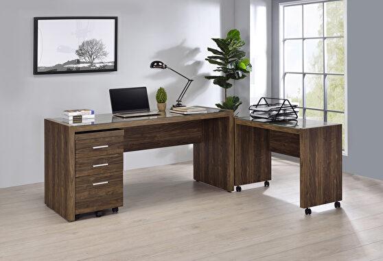 Aged walnut 59 writing desk