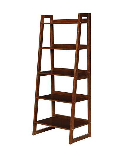 Cappuccino finish 5-shelf bookcase