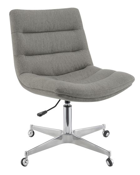 Office chair in gray linen-like fabric