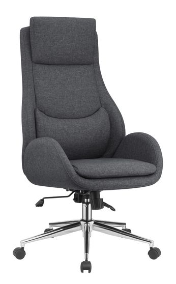 Gray fabric / chrome office chair
