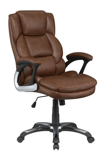 Office / computer chair in brown leatherette