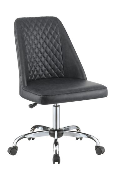 Office chair in gray leatherette