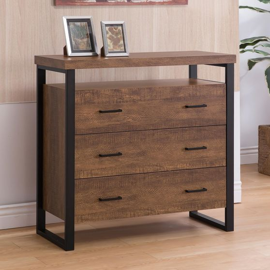 Industrial style accent cabinet
