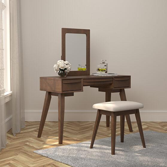 Mid-century modern style two-piece vanity set