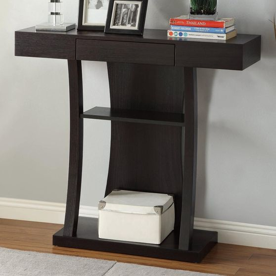 Cappuccino finish display / console table