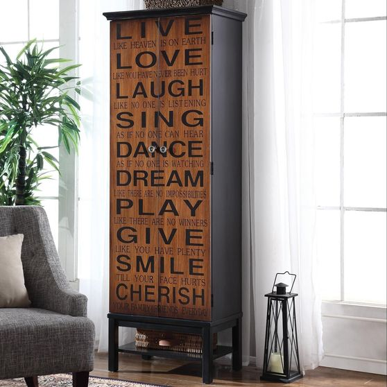 Positive words birch cabinet