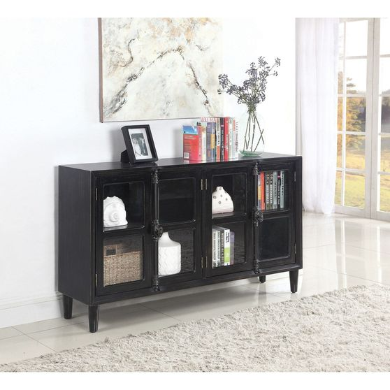 Dark gray french style accent cabinet