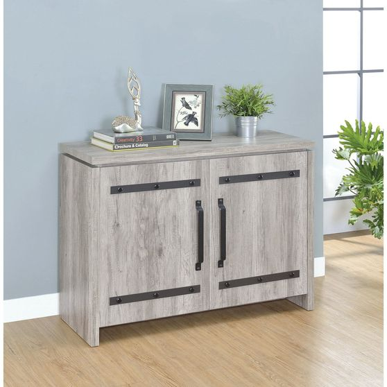 Gray driftwood rustic style accent cabinet