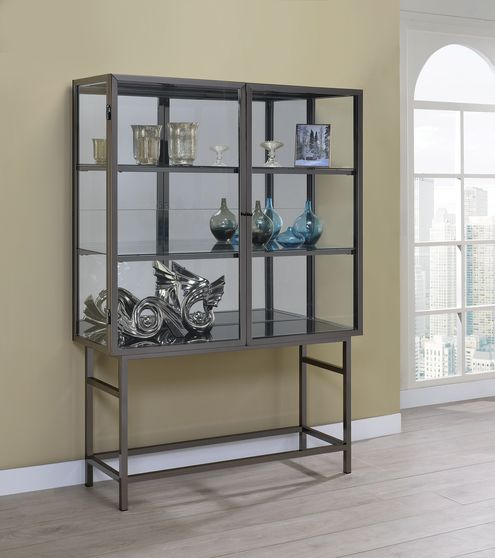 Curio cabinet w/ glass & led lightning