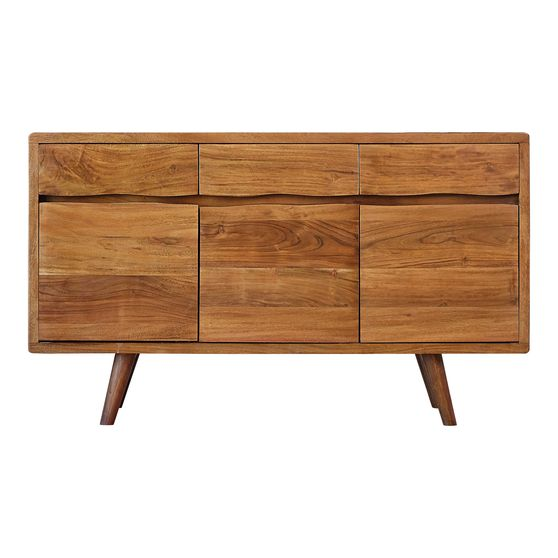 Accent cabinet in natural acacia wood