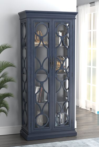 Tall cabinet in gray blue
