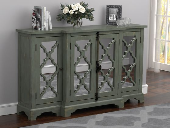 Accent cabinet in antique blue.