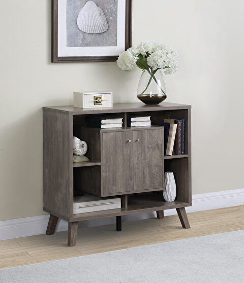 Modern style accent cabinet in a hazelnut finish accent cabinet