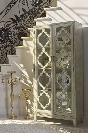 Accent cabinet in antique bronze