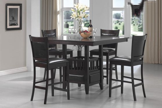 Large counter height table and 4 chairs set
