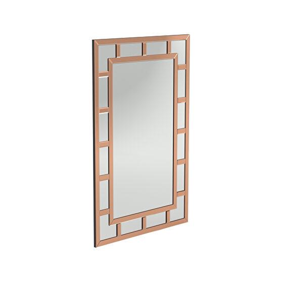 Beautiful rose gold wall mirror