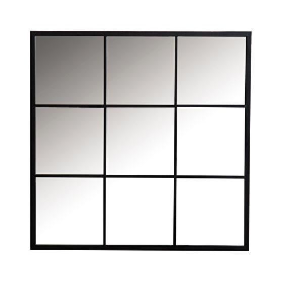 Black finish mirror