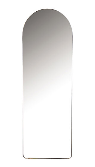 Matte black finish mirror