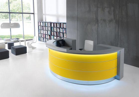 White / gray modular office reception furniture