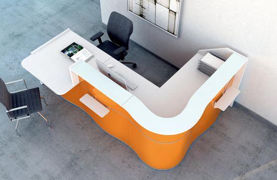 Ultra-contemporary modular office reception desk