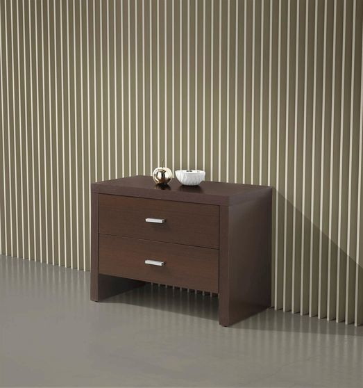 Wenge contemporary night stand