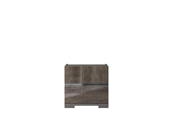 Chocolate brown contemporary night stand