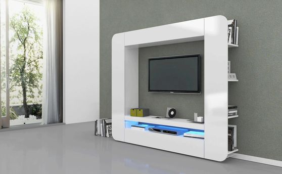 Modern european style laquer wall-unit in white