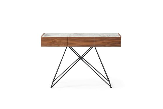 Stylish natural wood finish display / hall table / console table