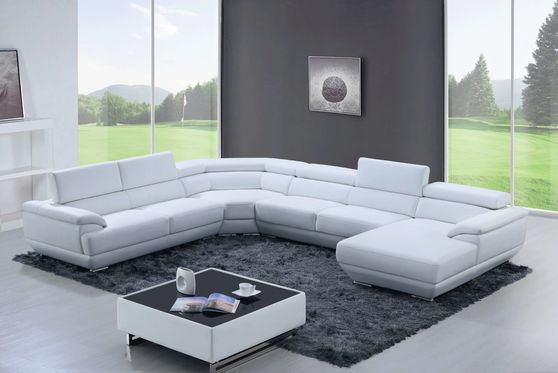 White large living room sectional sofa