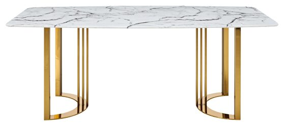 Gold marble dining table in luxury style